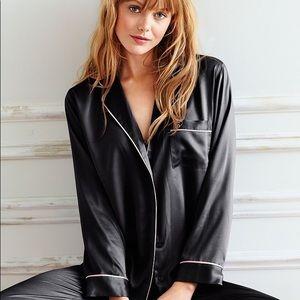 Black Victoria Secret Satin Sleep Shirt